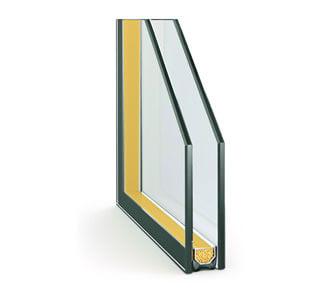 Однокаерный стеклопакет с теплым краем